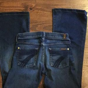 7 For All Mankind sz 26 bootcut jeans